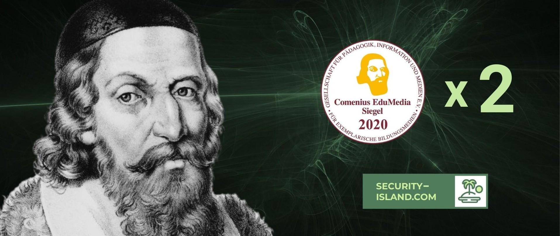 Security Island is awarded with the Comenius EduMedia Award 2020